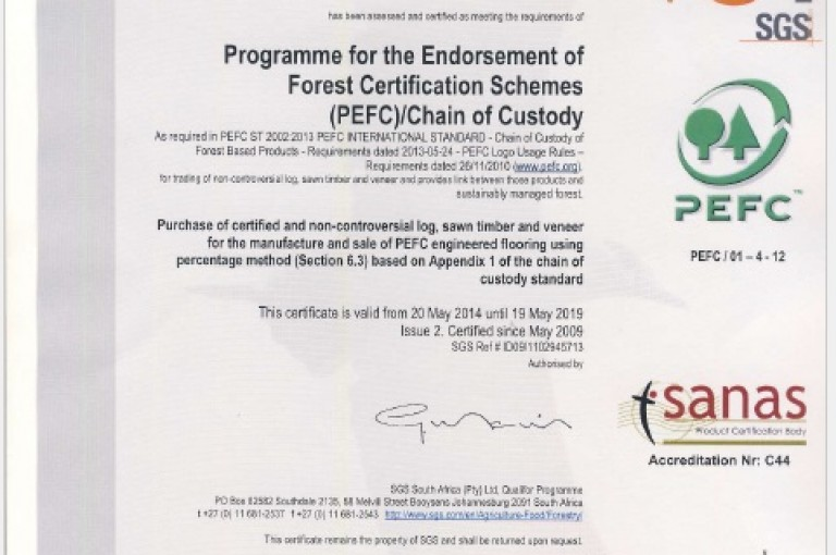 PEFC Chain-of-Custody Certificate. license: PEFC/39-31-22222
